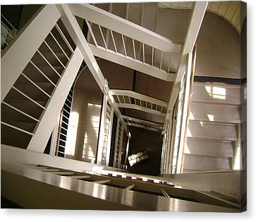Stair Way To Knowledge Canvas Print by Paul Meinerth
