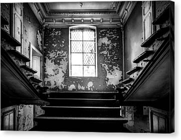 Staircase Abandoned Castle - Urban Exploration Canvas Print