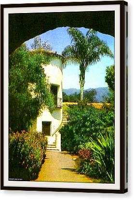 Staircase At The Biltmore Hotel, Santa Barbara Ca, 1929 Canvas Print