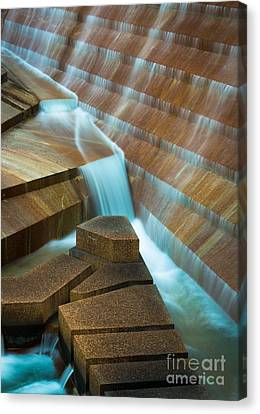 Staircase Fountain Canvas Print by Inge Johnsson