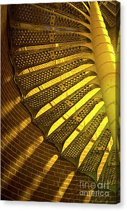 Canvas Print featuring the photograph Staircase Light by John Rizzuto