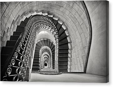 Staircase Perspective Canvas Print by George Oze