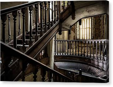 Staircase Rhythm - Abandoned Castle Canvas Print by Dirk Ercken