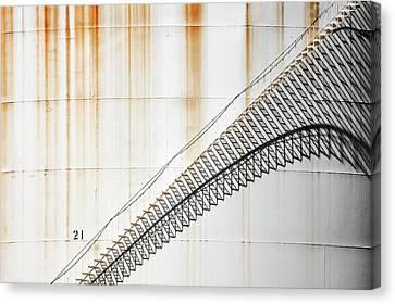 Staircase Shadows Canvas Print