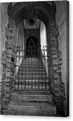 Stairs Beyond B-w Canvas Print by Christopher Holmes