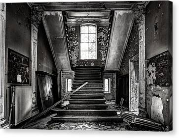 Stairs In Abandoned Castle - Urbex Canvas Print