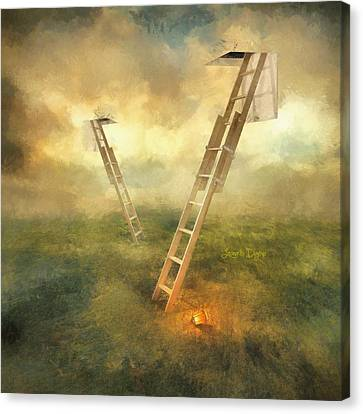 Green Energy Canvas Print - Stairs To Heaven - Da by Leonardo Digenio