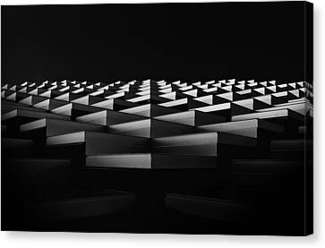 Stairs To The Light. Canvas Print by Greetje Van Son