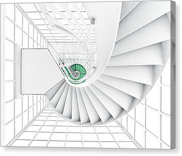 Stairs_2_kinemathek Canvas Print by Herbert A. Franke