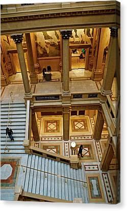 Stairway Architecture Carnegie Art Musem Canvas Print by Blair Seitz