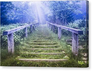 Stairway Into Heaven Canvas Print by Debra and Dave Vanderlaan