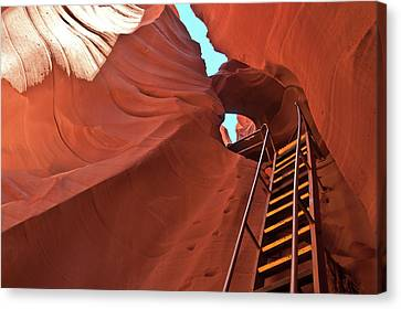 Stairway Over The Stand Wall Canvas Print