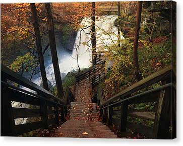 Stairway To Brandywine Canvas Print by Rob Blair