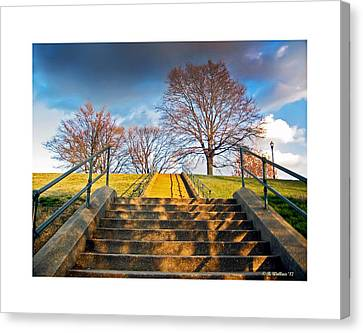 Stairway To Federal Hill Canvas Print by Brian Wallace