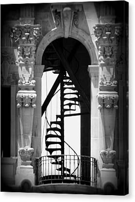 Stairway To Heaven Bw Canvas Print