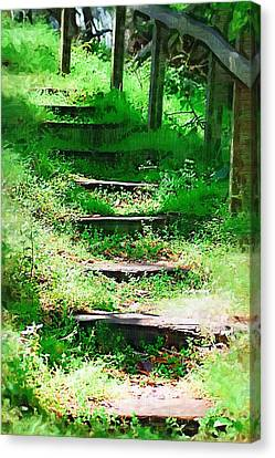 Canvas Print featuring the photograph Stairway To Heaven by Donna Bentley