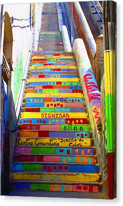 Stairway To Heaven Valparaiso Chile II Canvas Print by Kurt Van Wagner