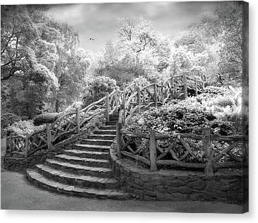 Stairway To Heaven Infrared Canvas Print by Jessica Jenney