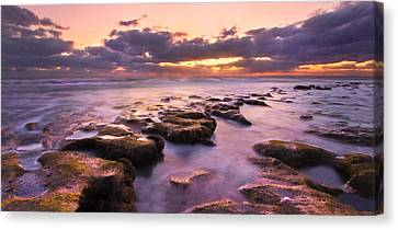 Stairway To Heaven Panorama Canvas Print by Debra and Dave Vanderlaan