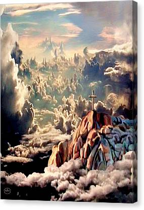 Stairway To Heaven Canvas Print by Ron Chambers