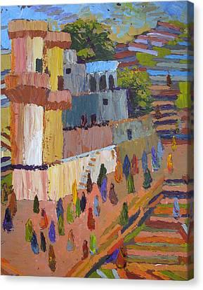 Stairway To Heaven Varanasi Canvas Print