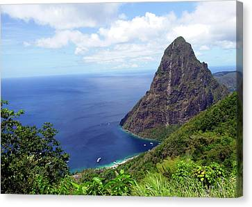 Canvas Print featuring the photograph Stairway To Heaven View, Pitons, St. Lucia by Kurt Van Wagner
