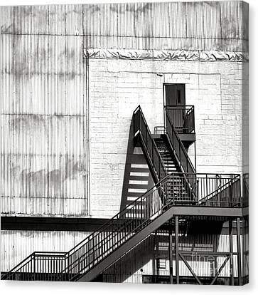Stairway To Less Than Heaven  Canvas Print by Olivier Le Queinec