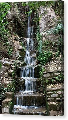 Stairway Waterfall Canvas Print by Lorraine Devon Wilke