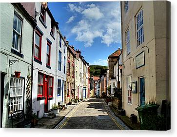 Staithes Canvas Print by Sarah Couzens