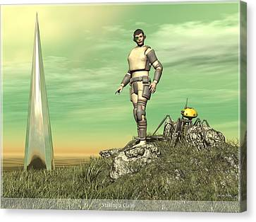 Staking Their Claim Canvas Print by Jim Coe