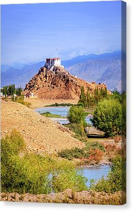 Canvas Print featuring the photograph Stakna Monastery by Alexey Stiop