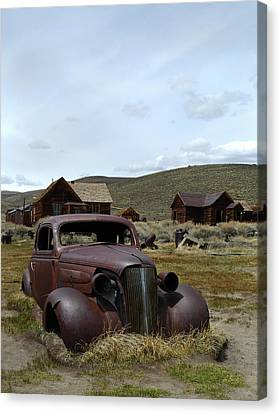 Chevy Coupe Canvas Print - Stalled In Bodie by Gordon Beck