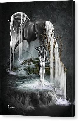 Stallion Falls Canvas Print