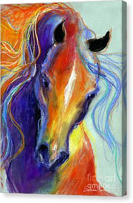 Custom Canvas Print - Stallion Horse Painting by Svetlana Novikova