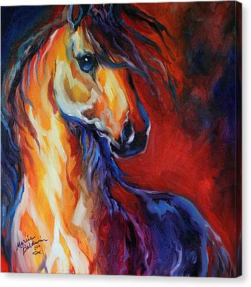 Stallion Red Dawn Canvas Print by Marcia Baldwin