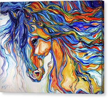 Abstract Equine Canvas Print - Stallion Southwest By M Baldwin by Marcia Baldwin