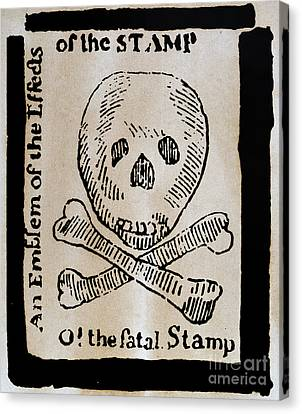 Stamp Act: Cartoon, 1765 Canvas Print by Granger