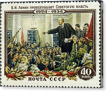 Stamp Soviet Union 1954 Canvas Print by Celestial Images