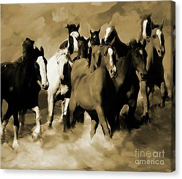 Stampede 03 Canvas Print by Gull G