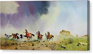 Stampede Canvas Print by Don Griffiths