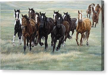 Stampede Canvas Print by JQ Licensing