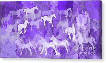 Purple Stampede Canvas Print
