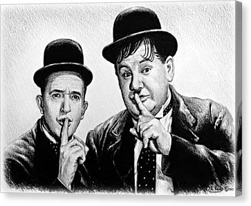 Stan And Ollie Canvas Print by Andrew Read