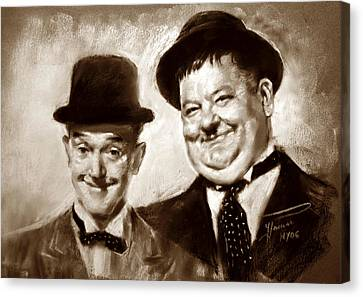 Stan Laurel  Oliver Hardy Canvas Print