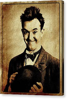 Stan Laurel Vintage Hollywood Actor Comedian Canvas Print by Esoterica Art Agency