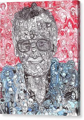 Avengers Canvas Print - Stan Lee by Serafin Ureno