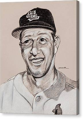 Stan Musial Canvas Print - Stan The Man by Jim Wetherington