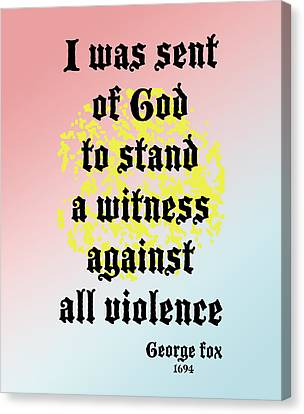 Stand Against Violence Canvas Print