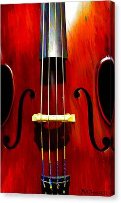 Stand Up Bass Canvas Print by Bill Cannon