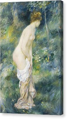 Standing Bather Canvas Print by Pierre Auguste Renoir